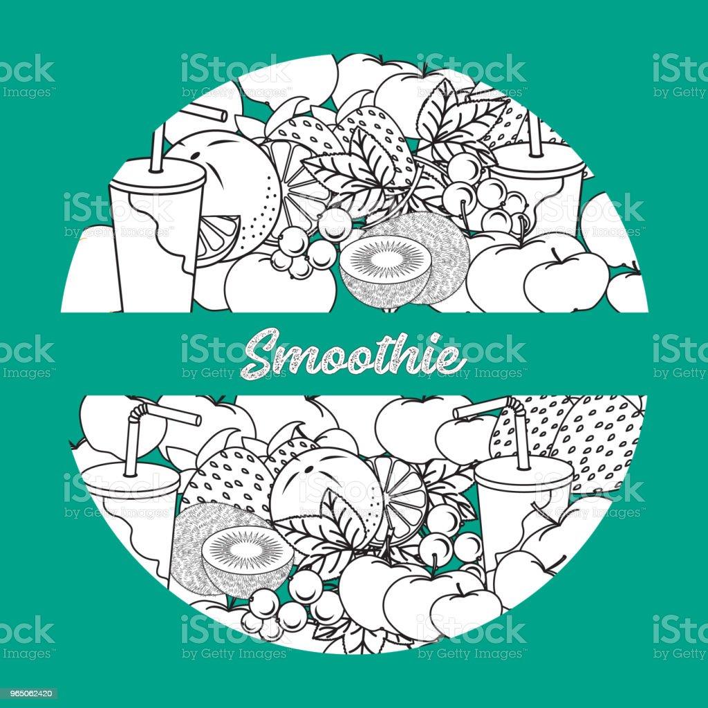 Smoothie and ingredients for making smoothie. smoothie and ingredients for making smoothie - stockowe grafiki wektorowe i więcej obrazów biologia - nauka royalty-free
