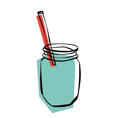 Smoothie in a jar