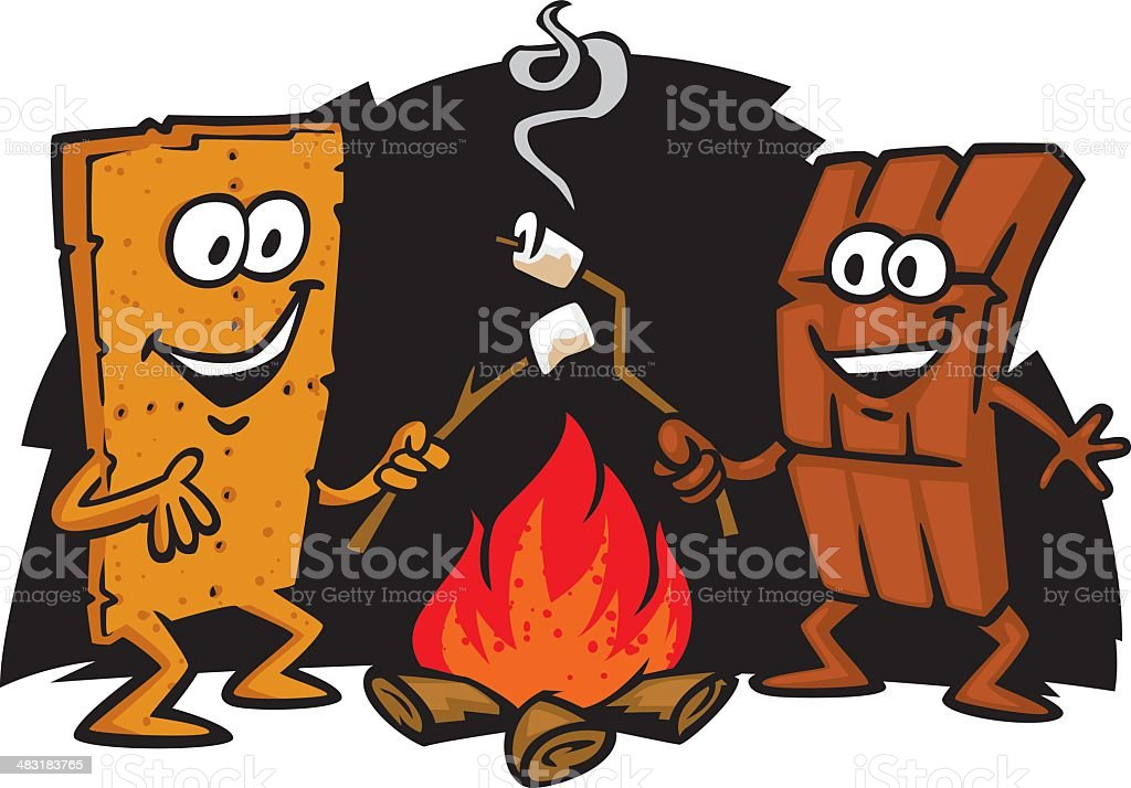 s'more friends royalty-free stock vector art