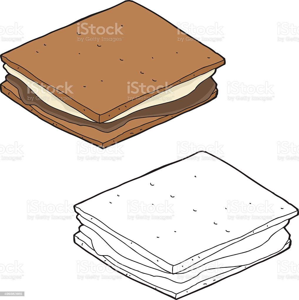 Smores Cartoon royalty-free stock vector art