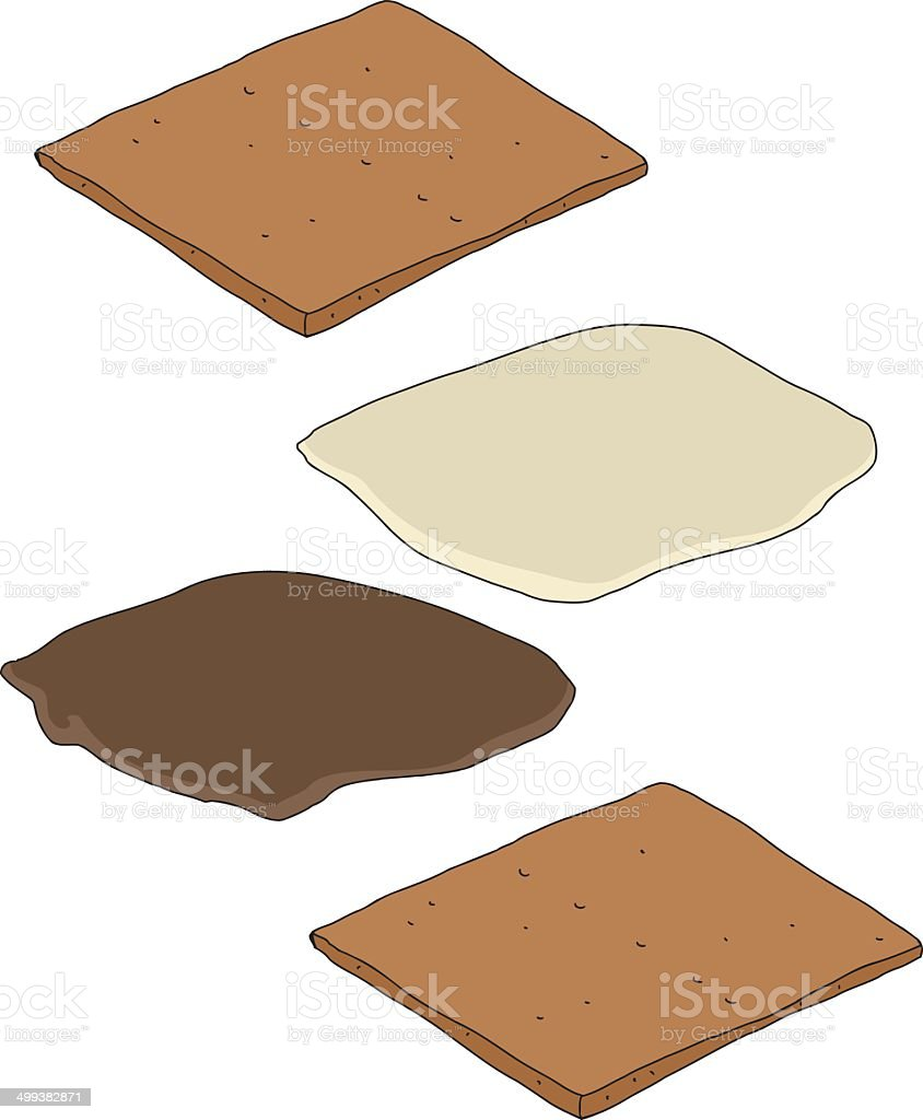 Smores Parts royalty-free smores parts stock vector art & more images of cartoon