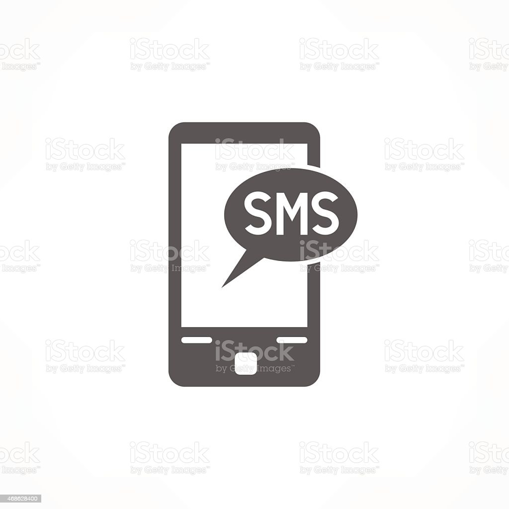 sms icon vector art illustration