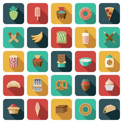 Snack Foods Icon Set
