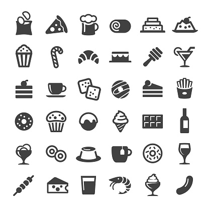 Snacks and Drink Icons - Big Series