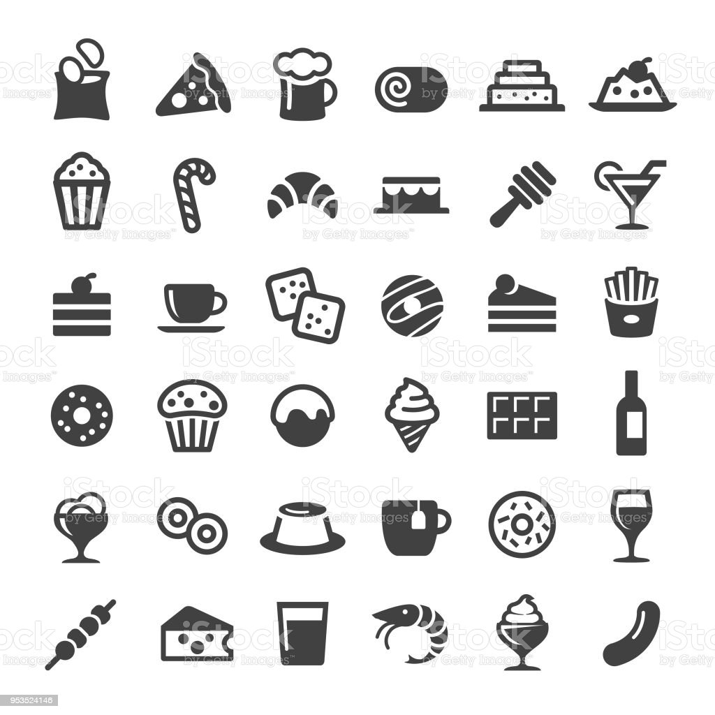Snacks and Drink Icons - Big Series vector art illustration