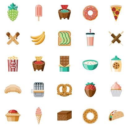 Snacks Icon Set