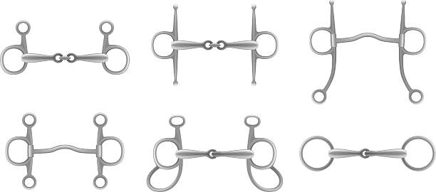 Snaffle set Snaffle set on a white background drill bit stock illustrations