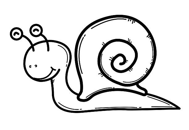weinbergschnecke comic - lustige schnecken stock-grafiken, -clipart, -cartoons und -symbole