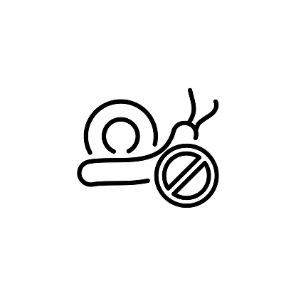 Snail Control icon in vector. Logotype