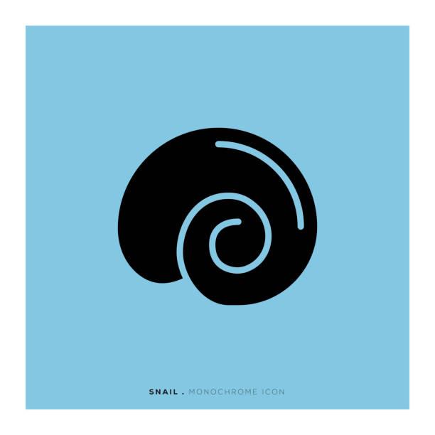 Snail Icon Snail Icon mollusk stock illustrations
