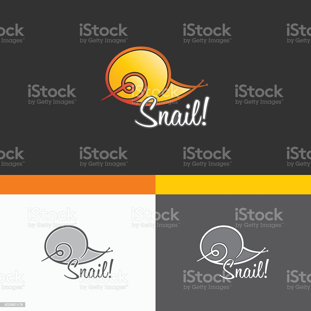 Snail Symbol Template. Vector Elements. Brand Icon Design Illustration vector art illustration