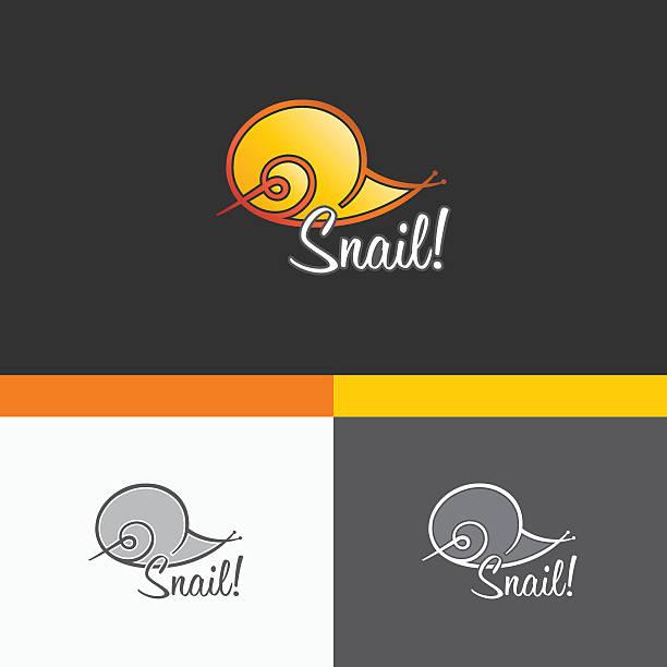 snail symbol template. vector elements. brand icon design illustration - burma home do stock illustrations