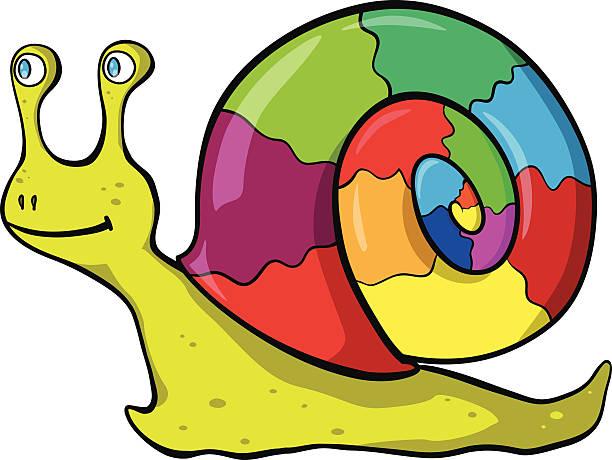 weinbergschnecke - lustige schnecken stock-grafiken, -clipart, -cartoons und -symbole
