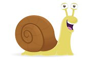 Snail with shell cartoon character isolated on the white background. High resolution JP, PDF, PNG (transparent background) and AI files available with this download.