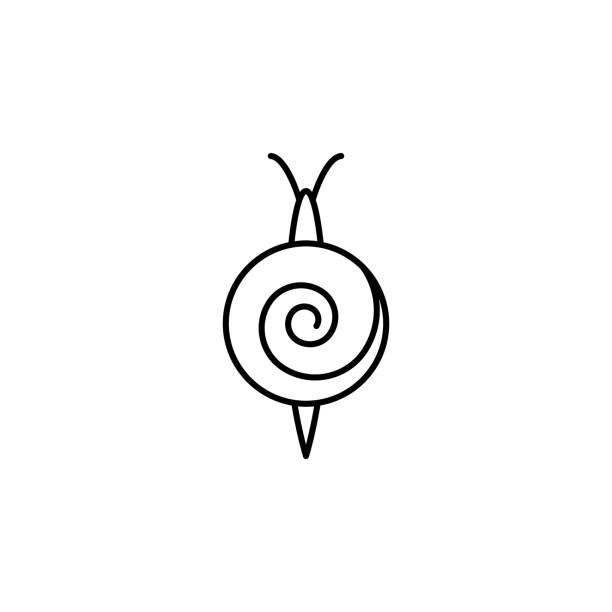 snails  icon. element of pest icon for mobile concept and web apps. thin line snails  icon can be used for web and mobile - snail stock illustrations