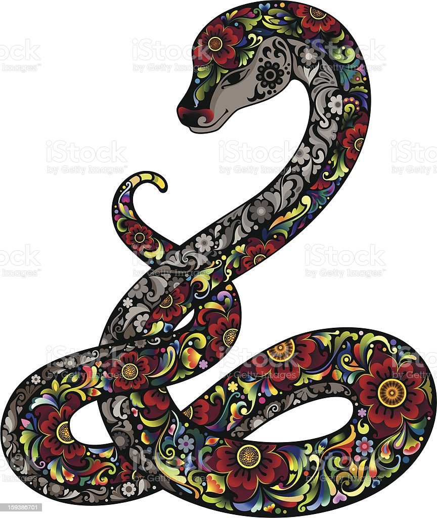 Snake and Flowers royalty-free snake and flowers stock vector art & more images of amphibian