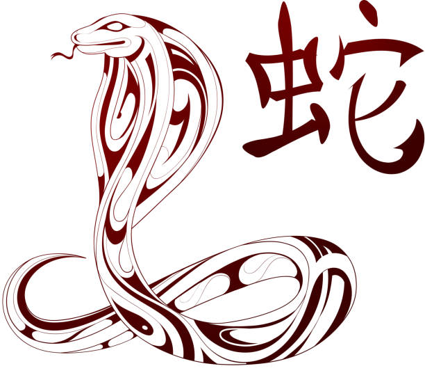 Royalty Free Snake As Symbol For Chinese Zodiac Clip Art Vector