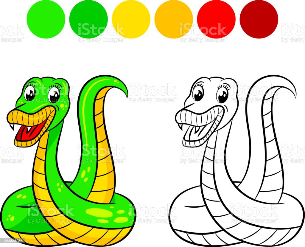 Snake Coloring Book Stock Illustration Download Image Now Istock