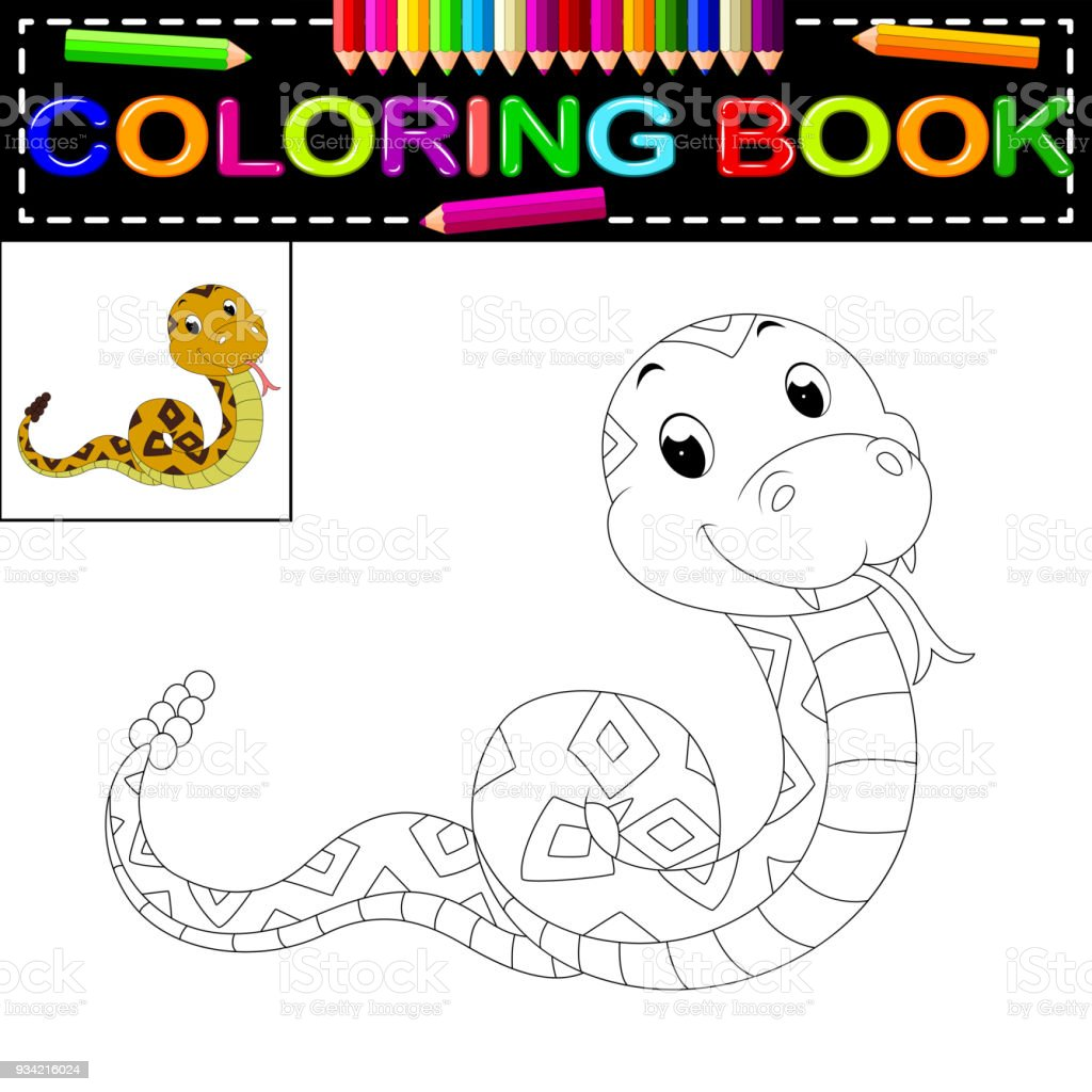Snake Coloring Book Stock Vector Art & More Images of Anaconda ...