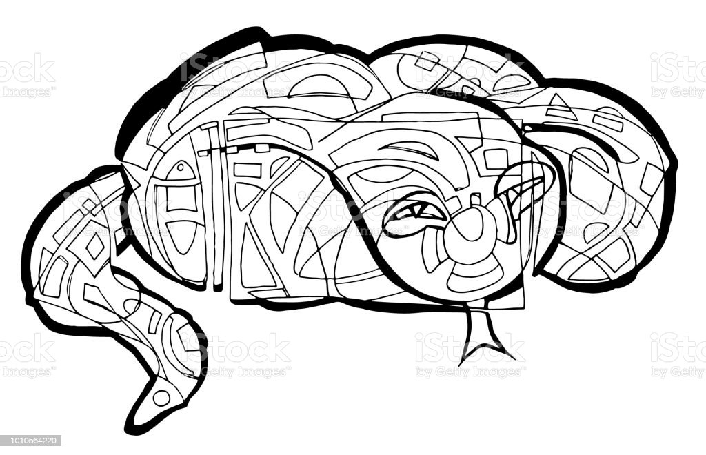 Snake Coloring Page Stock Vector Art More Images Of Abstract