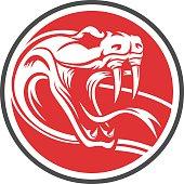 snake emblem circle