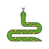 Snake,   filled outline design