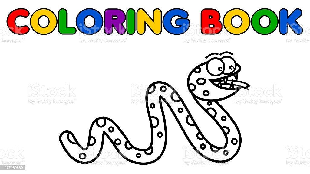 Ilustración de Serpiente Para Colorear y más banco de imágenes de ...