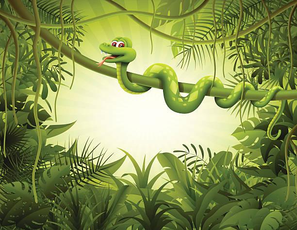スネークに飾る liana - ヘビ点のイラスト素材/クリップアート素材/マンガ素材/アイコン素材