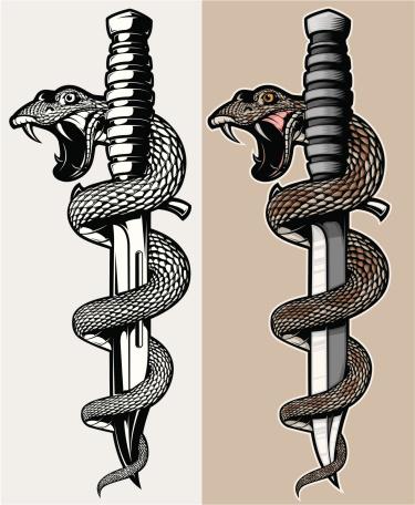 snake & knife