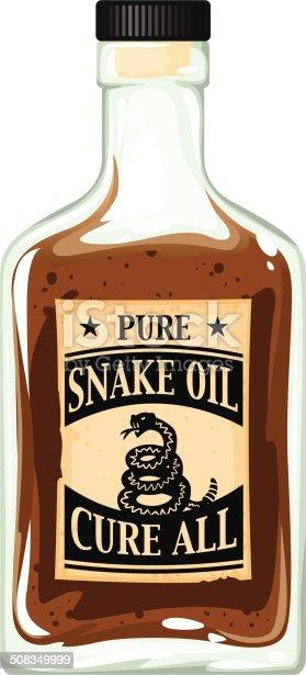 bottle of snake oil patent medicine