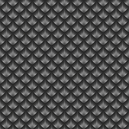 Snake or dragon scales seamless pattern vector creative background, gray gradient reptile skin texture, repeating linear scales