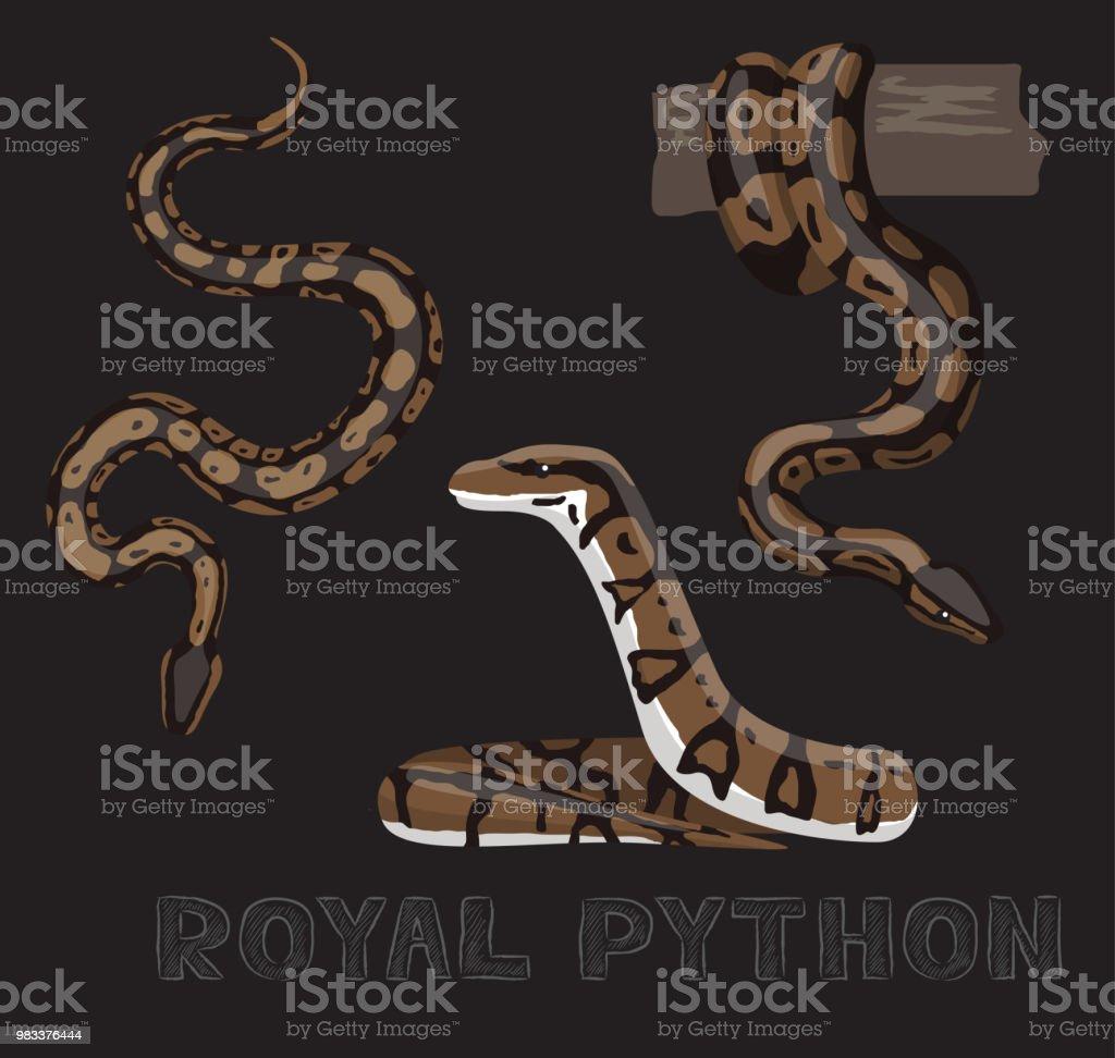 Ilustración de Serpiente Pitón Real De Dibujos Animados Vector ...