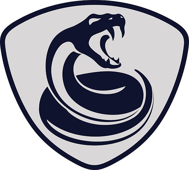 Serpiente shield - ilustración de arte vectorial