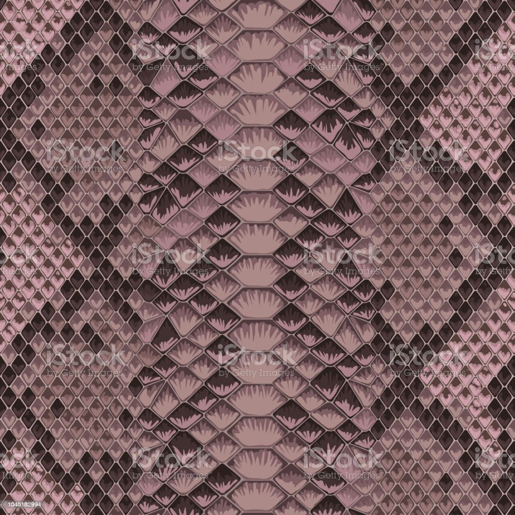 Snake skin pink and maroon seamless pattern. Animal colorful repeat...