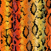 Snake skin Geometric background. Seamless pattern black brown yellow red
