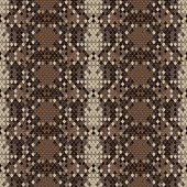Snake skin reptile seamless pattern, vector illustration.