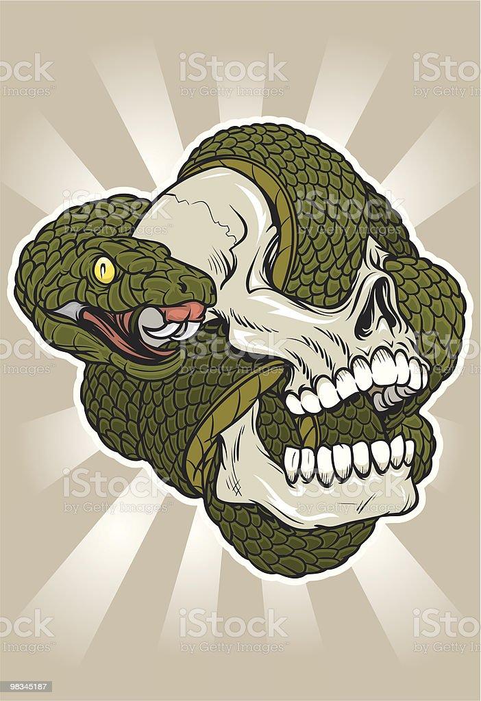 Teschio di serpente teschio di serpente - immagini vettoriali stock e altre immagini di aggressione royalty-free