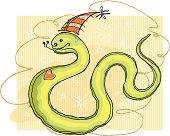 Snake smiles.