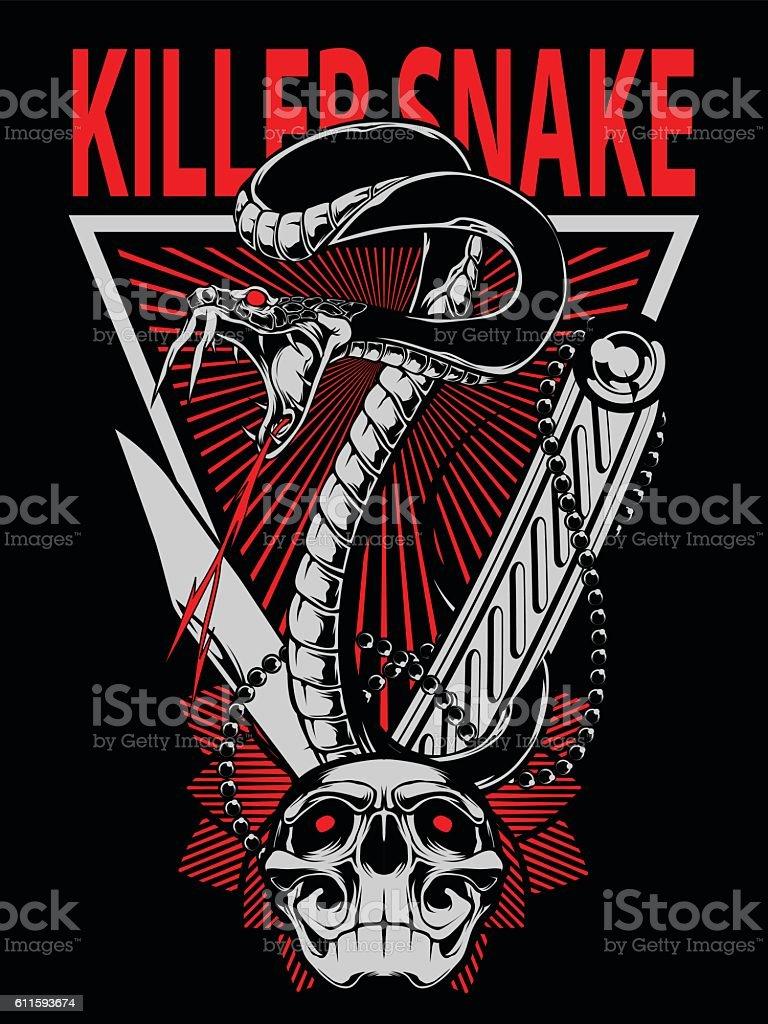 Snake Vector Desgn vector art illustration