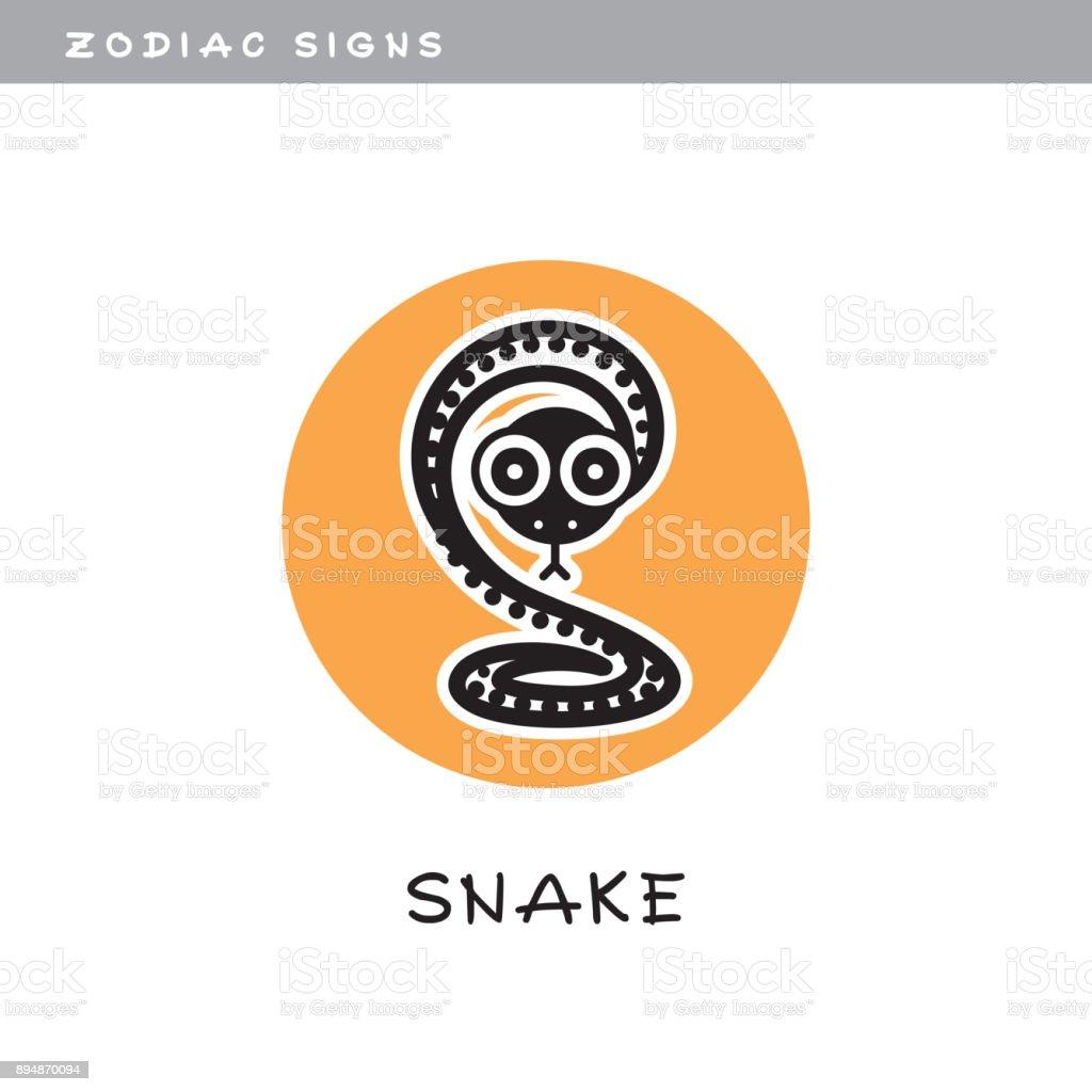 Snake - vector icon.  , zodiac sign, symbol of Chinese astrological calendar. vector art illustration