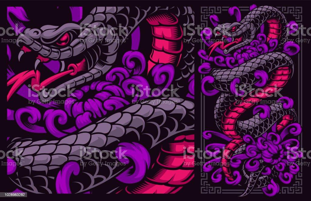 花と蛇します - Tシャツのベクターアート素材や画像を多数ご用意 - iStock