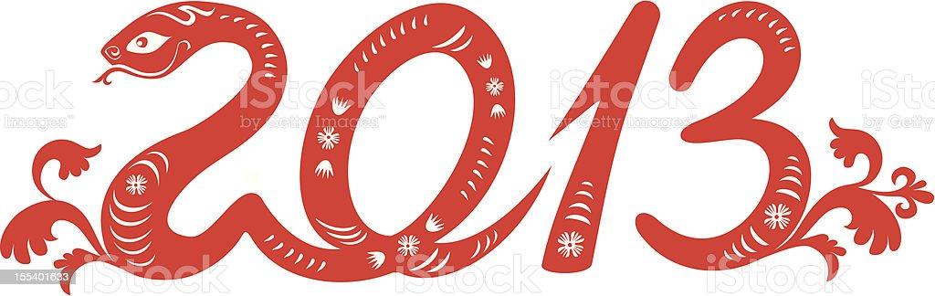 Snake year 2013 royalty-free stock vector art