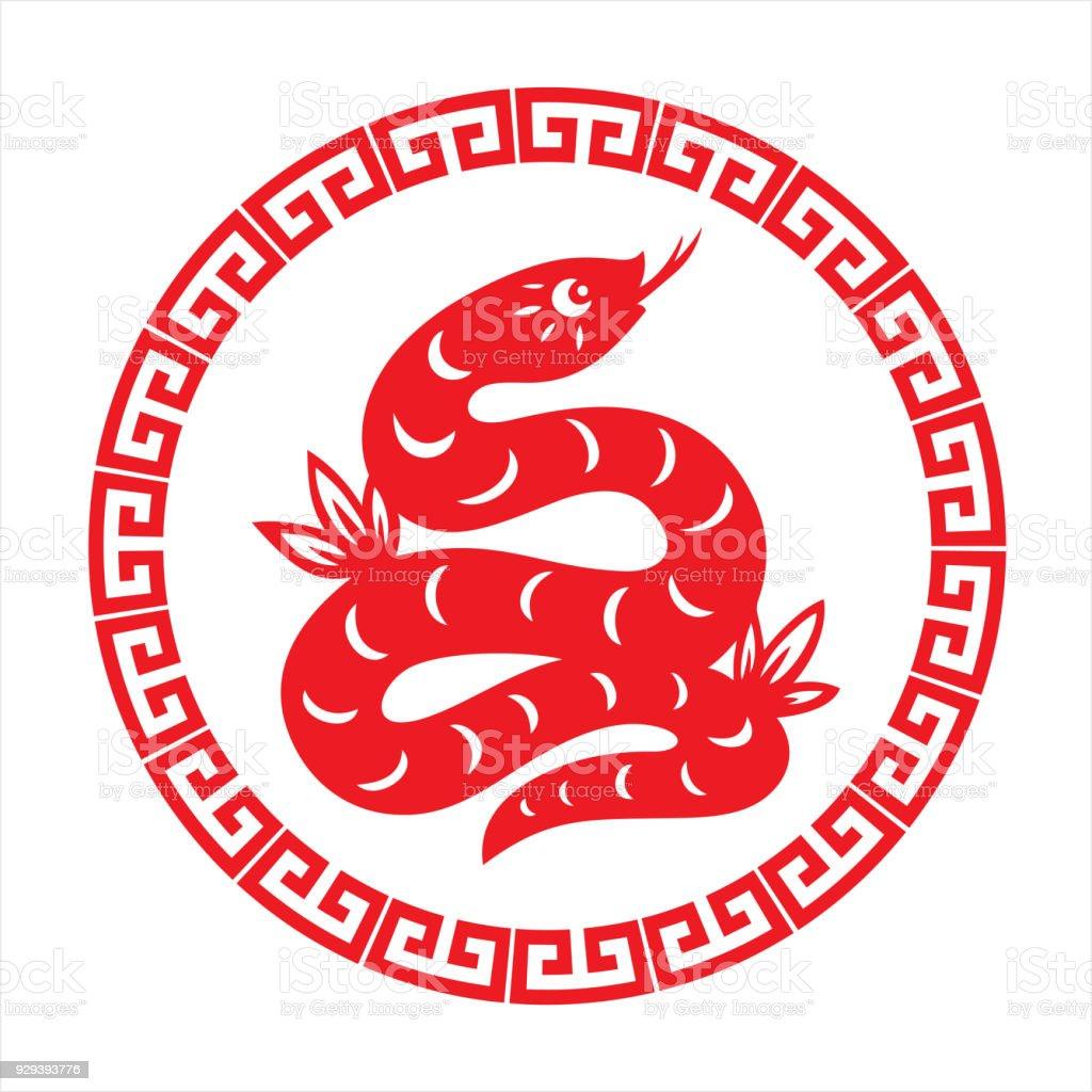 Snake, zodiac sign vector art illustration