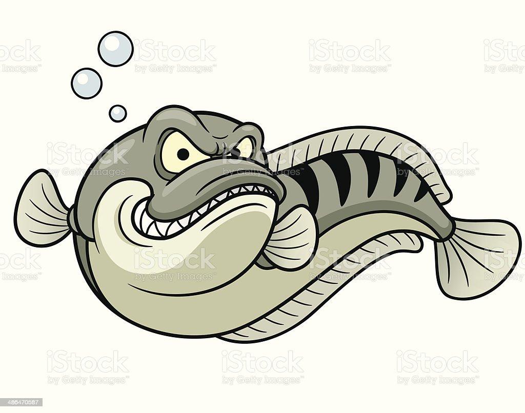 Snakehead fish vector art illustration