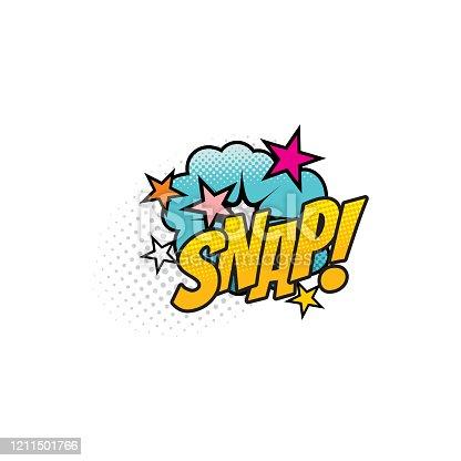 istock Snap cartoon comic book sound blast explosion 1211501766