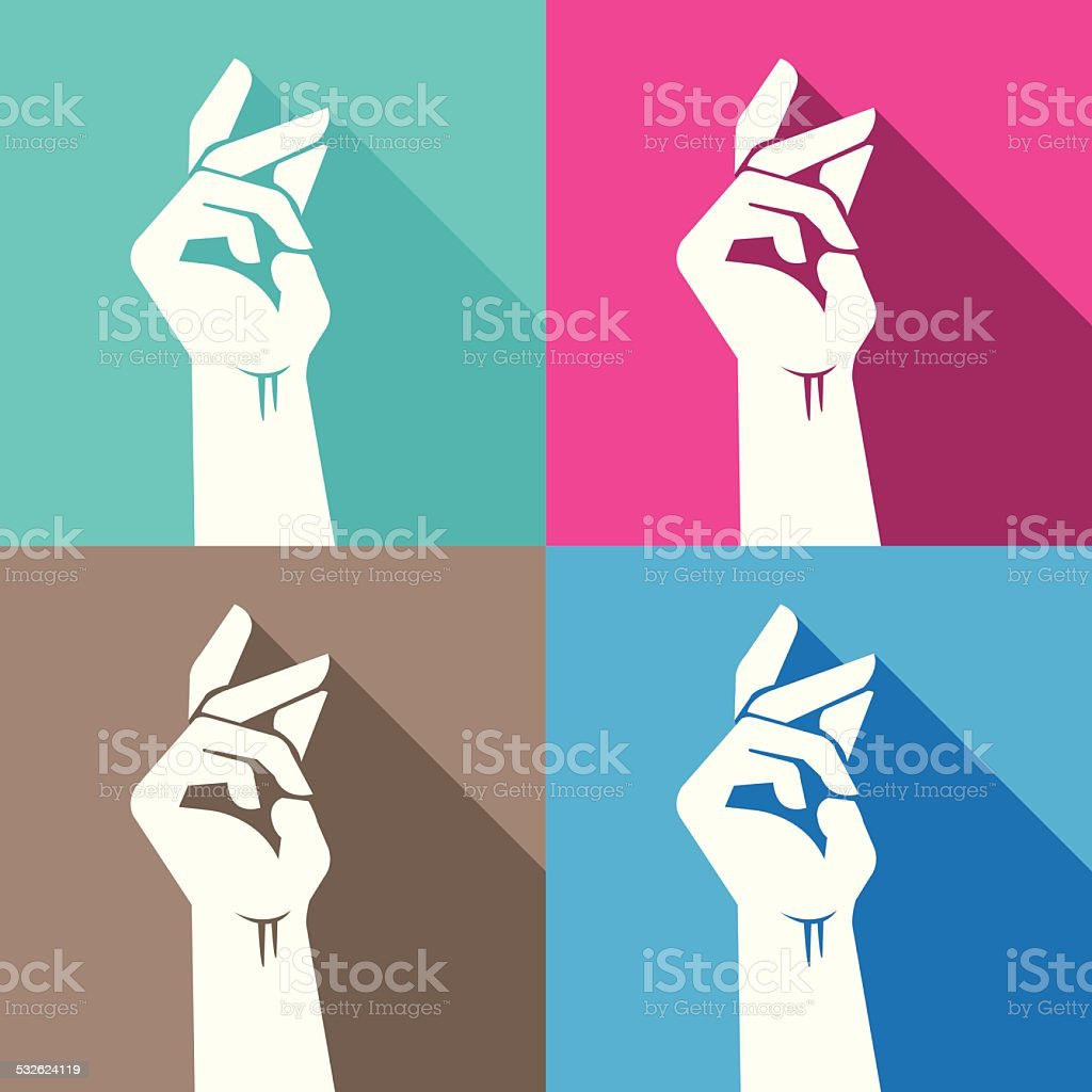 Snapping Finger vector art illustration