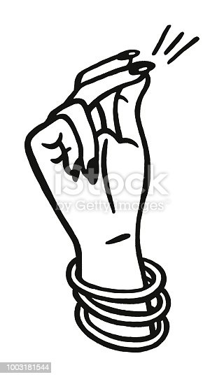 snapping fingers stock vector art  u0026 more images of black and white 1003181544