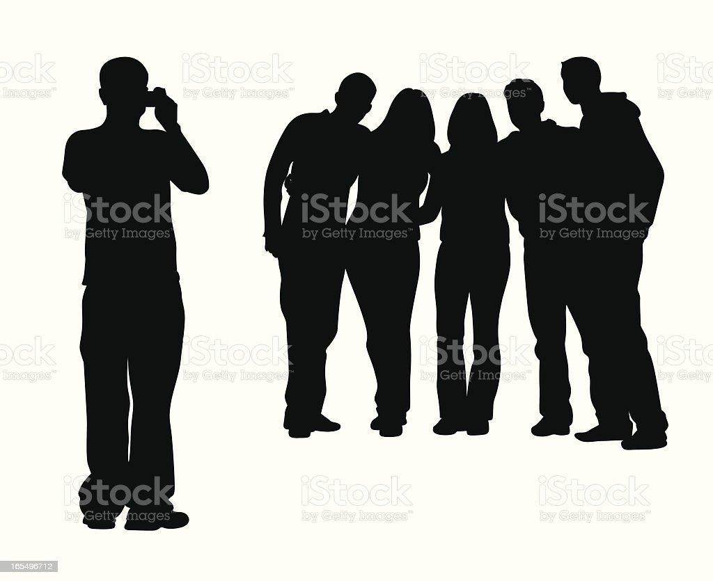 Snapshots Vector Silhouette vector art illustration