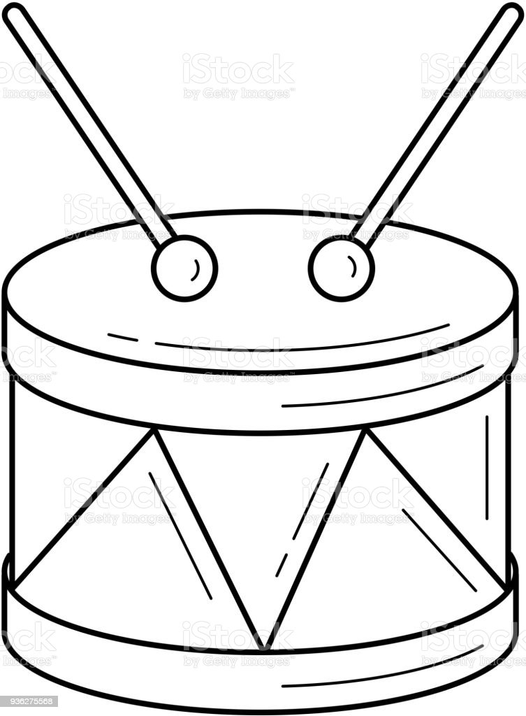 Snare Drum Line Icon Stock Vector Art & More Images of Art 936275568 ...