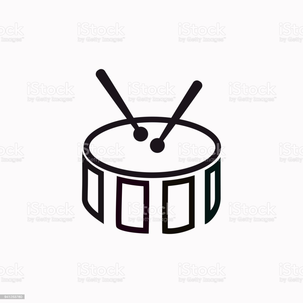 Snare Drum Vector Icon Stock Vector Art & More Images of Acoustic ...